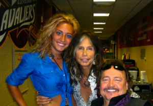 Taylor Anthonsen, Steve Tyler from Aerosmith and Ronnie Bachman